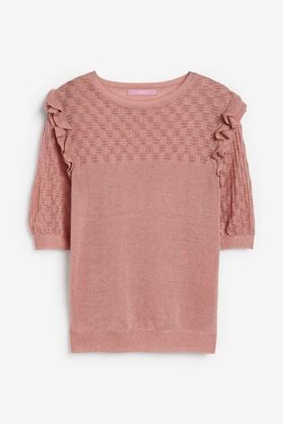 Pink Sparkle Ruffle T-Shirt