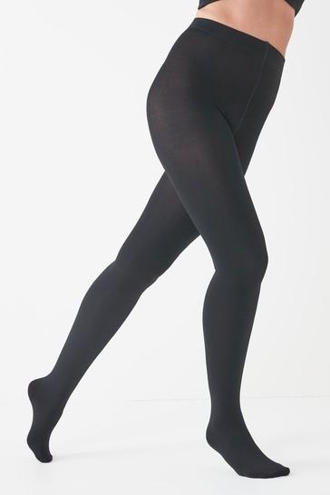 Black Fleece Lined Tights