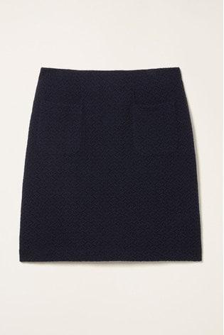 FatFace Blue Jennie Jacquard Skirt