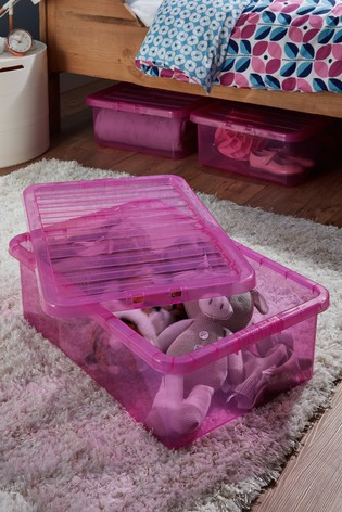 Set of 3 Crystal Underbed 32L Boxes by Wham