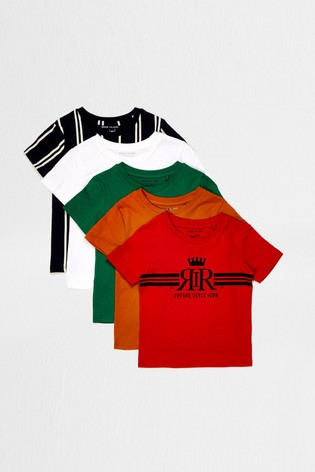 River Island Bright Multipack Print T-Shirts Five Pack