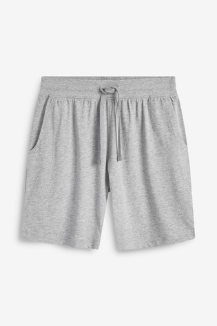 Grey Marl Jersey Shorts Two Pack