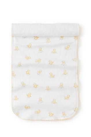 Kissy Kissy White Hatchlings Duck Print Burp Cloth