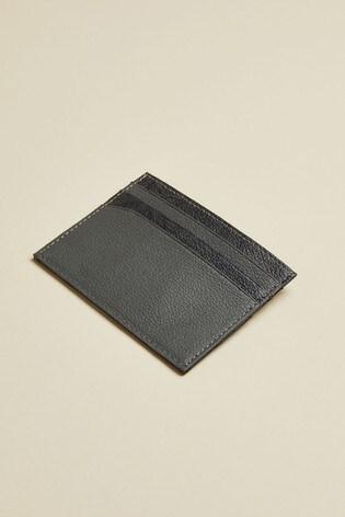 Ted Baker Blue Mangla Leather Jacquard Cardholder