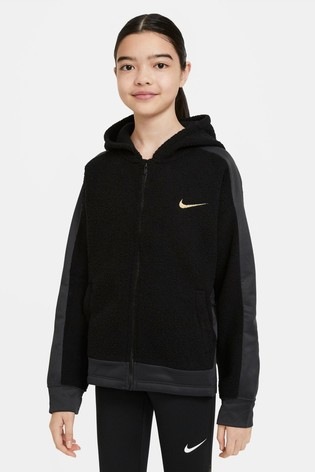 Nike Black Therma Zip Through Hoody