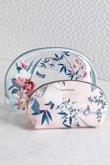 Set of 2 Lipsy Lotus Cosmetic Bags