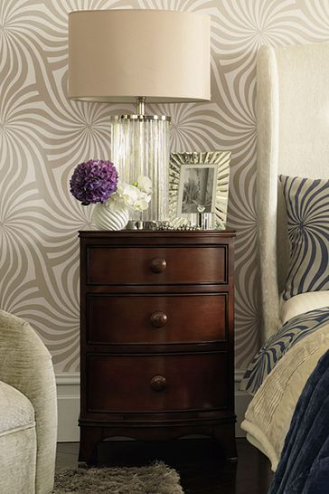 Broughton Dark 3 Drawer Bedside Chest by Laura Ashley