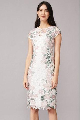 Phase Eight Pink Kyra Lace Dress