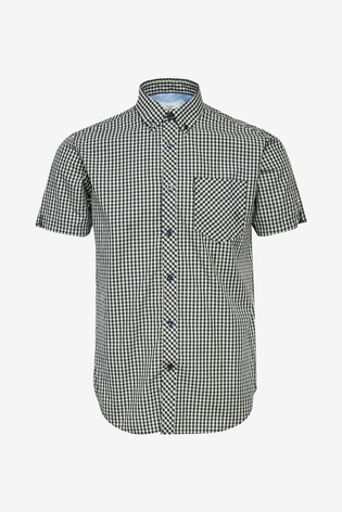 Ben Sherman Navy Short Sleeve Signature Core Gingham Shirt
