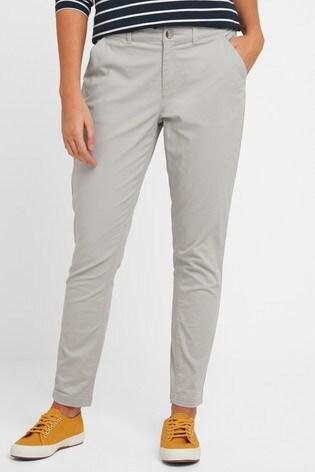 Tog 24 Womens Grey Pickering Short Chino Trousers