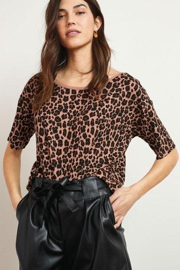 Animal Print Oversized T-Shirt