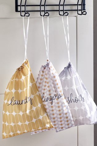 Set of 4 Retro Print Laundry Set