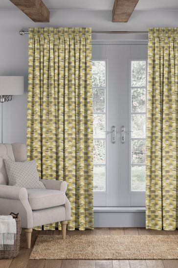 Souky Sunflower Yellow Made To Measure Curtains