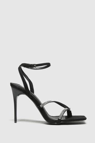 Schuh Black Seren Embellished Sandals
