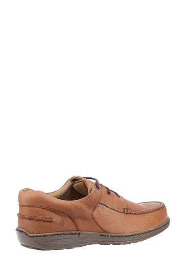 Hush Puppies Tan Winston Causal Lace-Up Moccasin Shoes