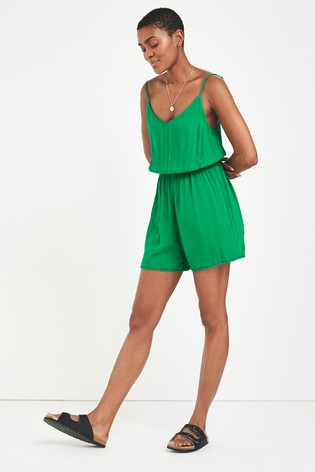 Green Strappy Playsuit