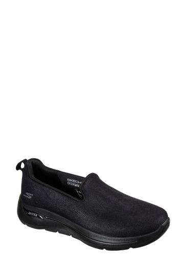 Skechers® Black Go Walk Arch Fit Smooth Voyage Trainers