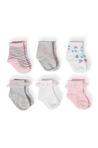 aden + anais Pink Baby Socks Six Pack Gift Set