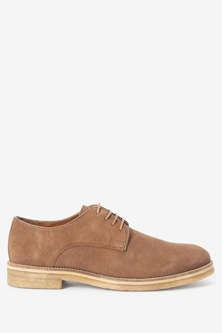 Tan Modern Heritage Crepe Sole Suede Derby Shoes