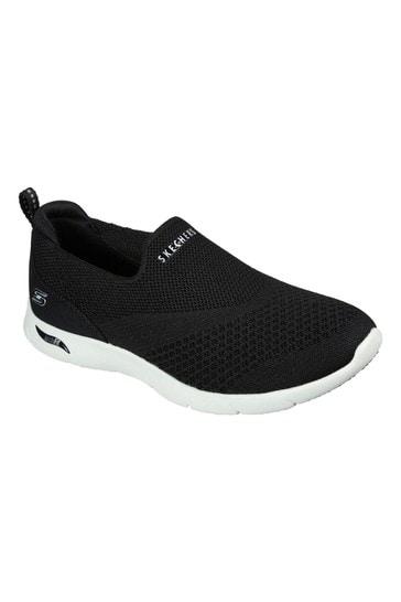 Skechers® Black Arch Fit Refine Don't Go Trainers