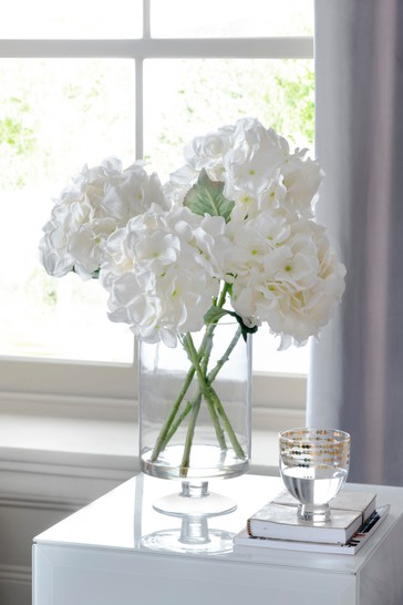 Artificial Hydrangeas In Vase