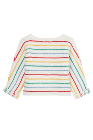 Joules White The Knit Cardigan