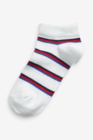 Multi 7 Pack Cotton Rich Football Trainer Socks (Older)