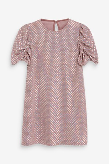 Pink Sequin Dress (3-16yrs)
