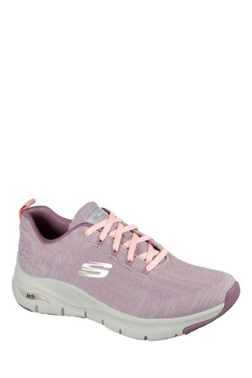 Skechers® Purple Arch Fit Comfy Wave Trainers