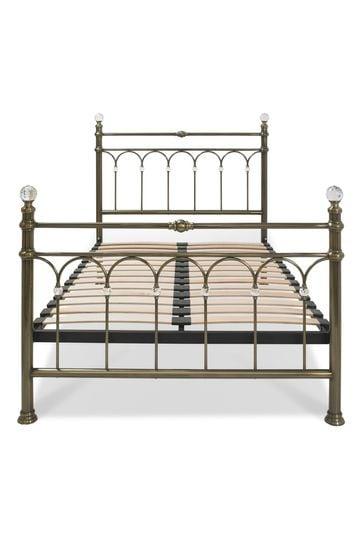 Krystal Antique Brass Bed by Bentley Designs
