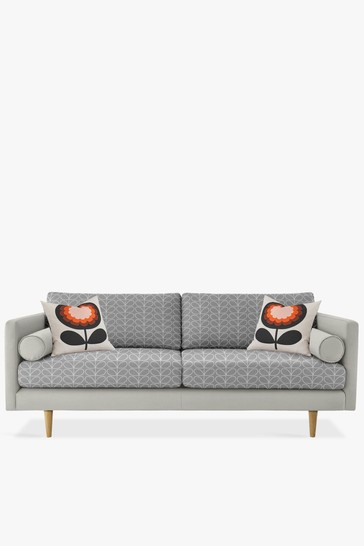 Orla Kiely Mimosa Large Sofa With Oak Feet
