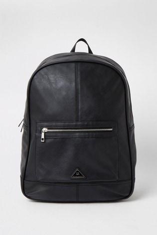 River Island Black Triangle Backpack