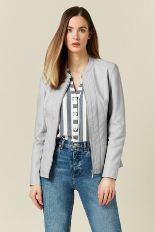 Wallis Grey Whitney Ponte Side Centre Front Jacket