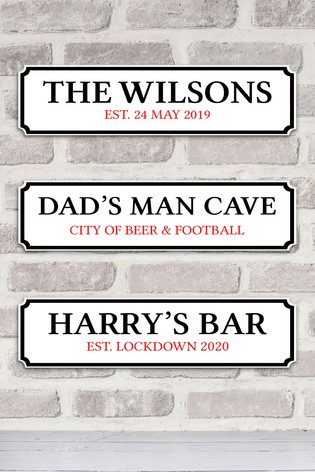 Personalised Street Inspired Wall Sign by Jonny's Sister