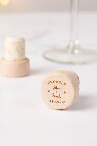 Personalised Engagement Bottle Stopper by Oakdene Designs