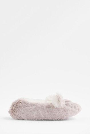 Accessorize Grey Bella Bunny Slippers