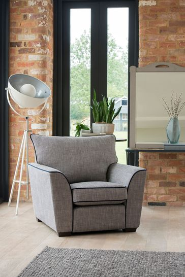 Collins & Hayes Soho Chair Contrast Piped Upholstered