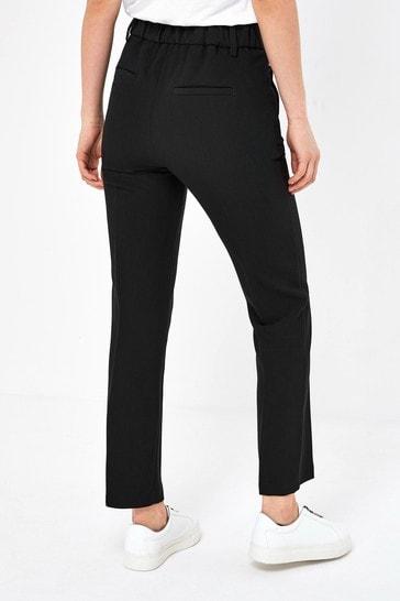 Black Elastic Back Skinny Trousers