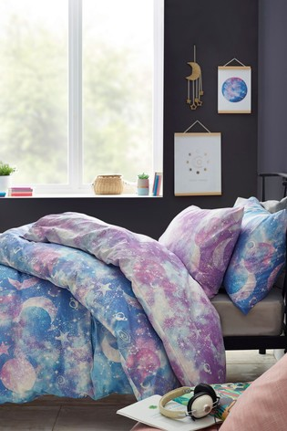 2 Pack Cosmic Reversible Duvet Cover and Pillowcase Set