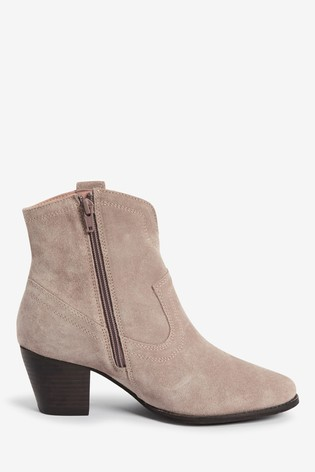 Mink Forever Comfort® Western Ankle Boots