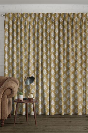 Dijon Gold Stellard Made To Measure Curtains