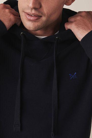 Crew Clothing Company Blue Crossed Oars Hoody
