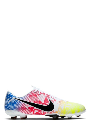 Nike White Mercurial Vapor 13 Academy Neymar Jr. Multi Ground Football Boots