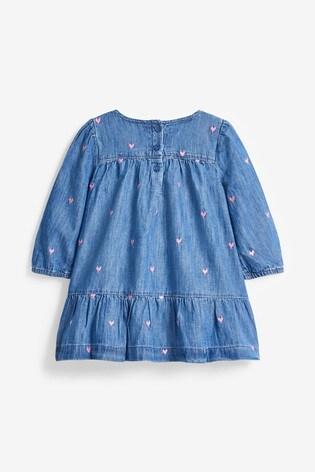 Gap Heart Embellished Denim Dress