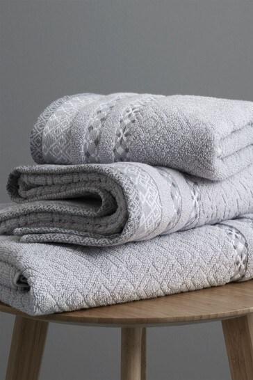 4 Piece Malawa Geo Bands Towel Bale by Catherine Lansfield
