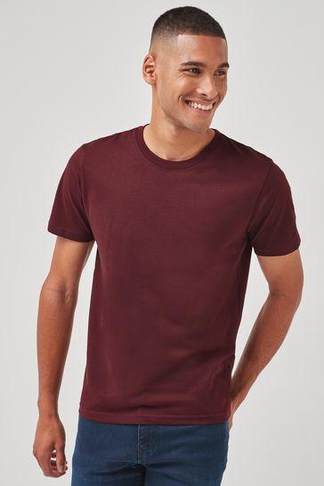 Maroon Slim Fit Crew Neck T-Shirt