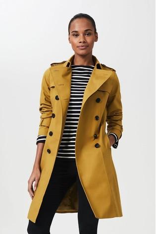 Hobbs Yellow Petite Saskia Trench Coat