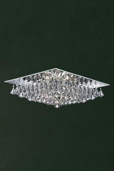 Dama 8 Light Square Flush Ceiling Light by Searchlight