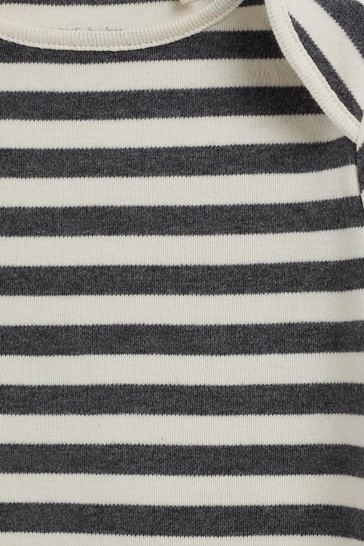 Monochrome 5 Pack Plain Short Sleeve Bodysuits (0mths-3yrs)