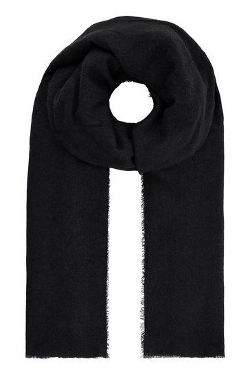 Accessorize Black Wells Supersoft Blanket